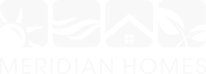 Meridian homes logo in white
