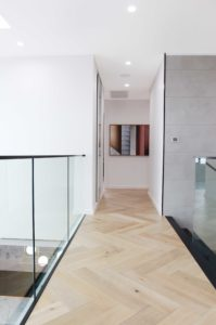 2nd floor passage with glass railing